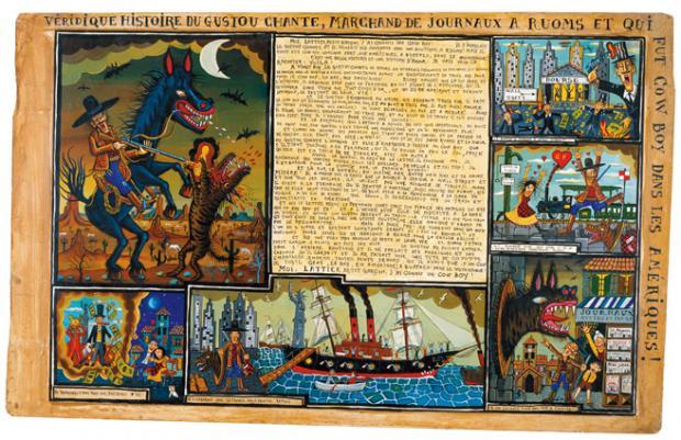 Véridique histoire du Gustou Chante marchand de journaux à Ruoms
