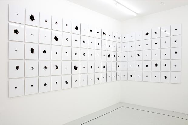 Sang d'encre, installation Galerie ALB